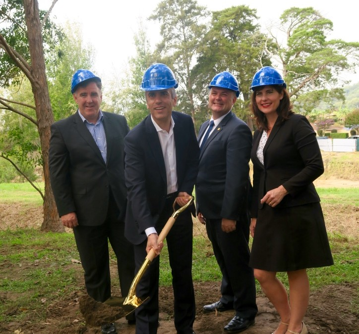 Symbolic earth-turning to mark start of Aurrum aged care build