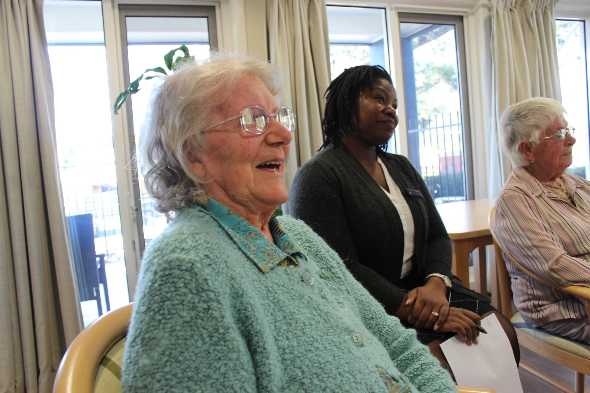 residents listening
