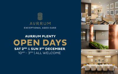Aurrum Plenty Open Days