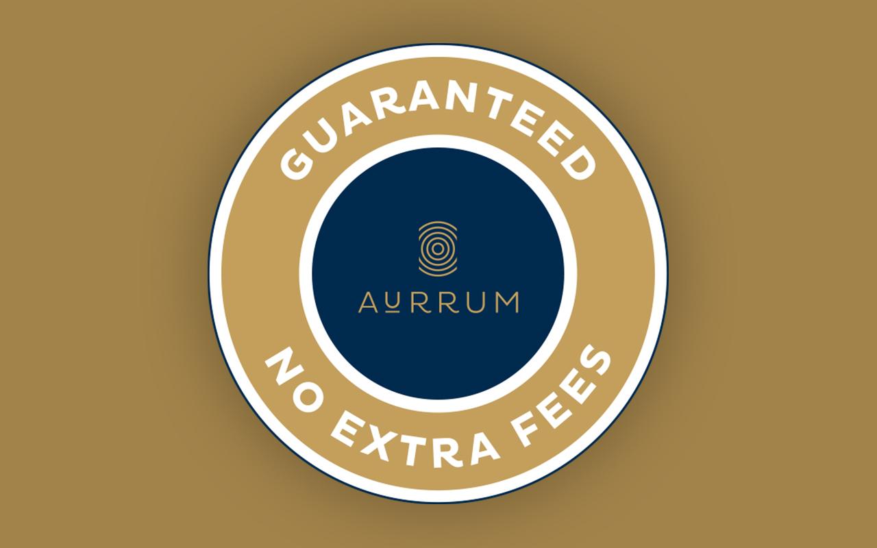 Guaranteed no extra fees